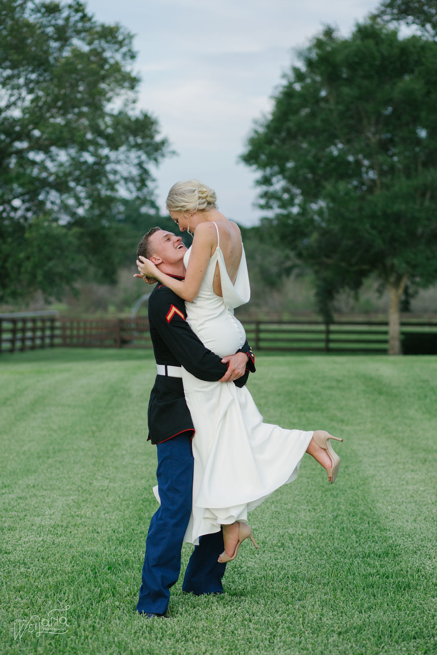 Bride and Groom on ranch