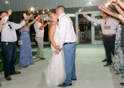 Masters Stables wedding venue air conditioned barn-13 reception sparkler tunnel wedding exit